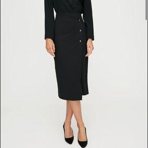 NWT Aritzia Babaton billy button up black skirt